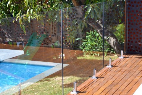 2 Deck Mounted Pool Fence