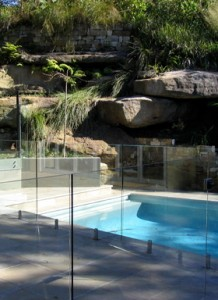 glass pool fence patio
